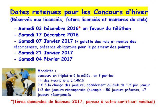 Concours d hiver 2016 2017